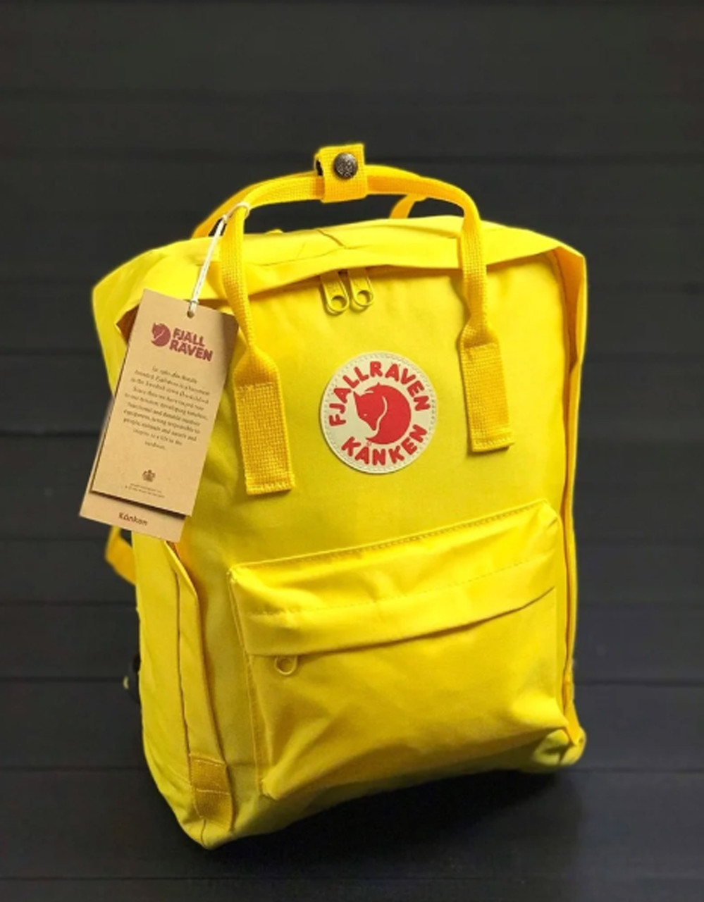 Женский рюкзак-сумка канкен Fjallraven Kanken classic желтый