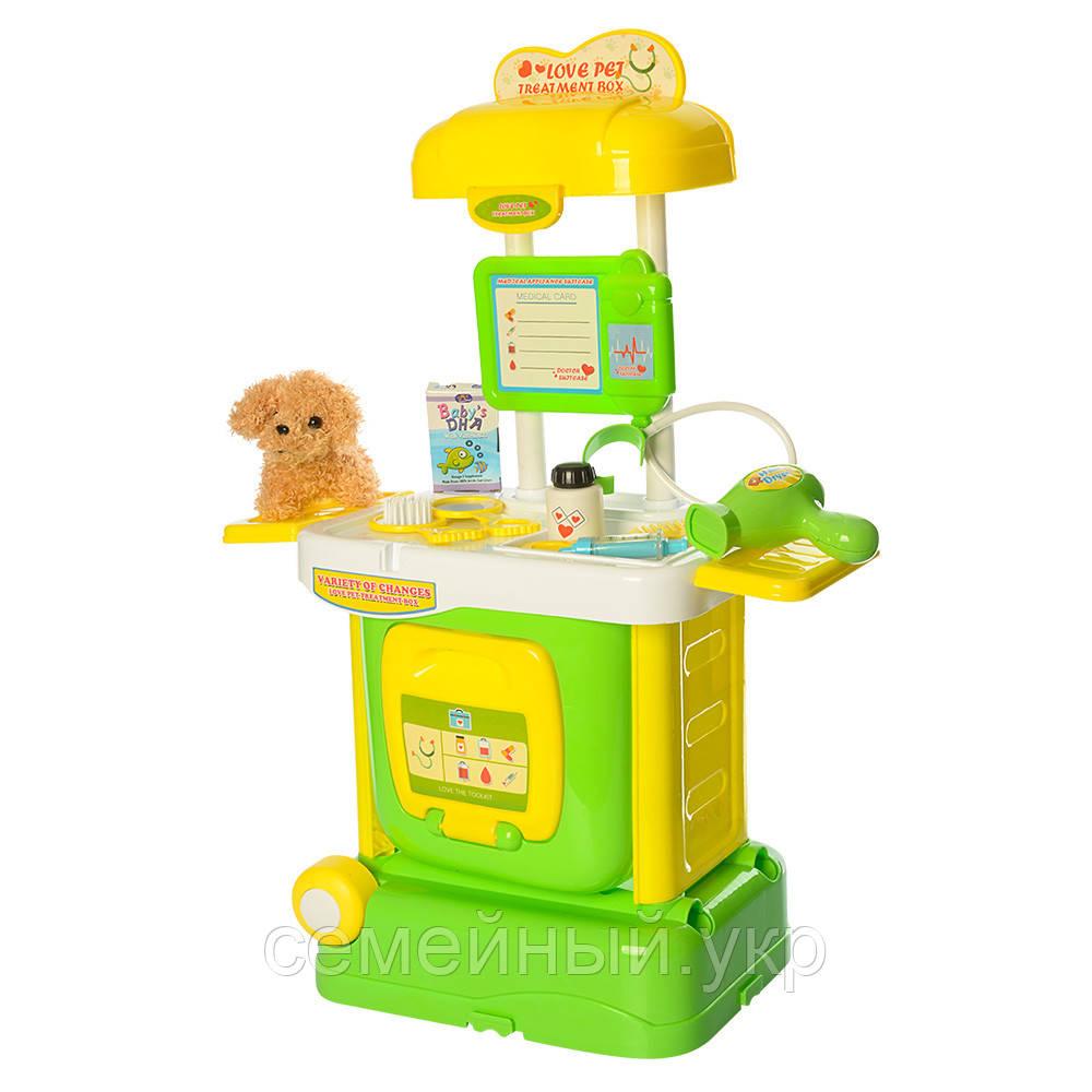 """Детский игровой набор """"Ветеринар"""". Мягкий щенок, чемодан трансформер. W807A-8A-9A"""