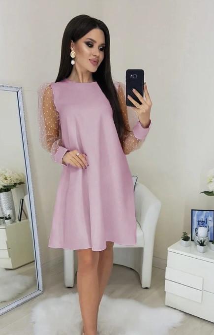 Платье с прозрачными рукавами Муза