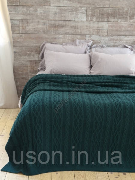 Плед-покрывало вязаное Betires 220x240 Dolce green