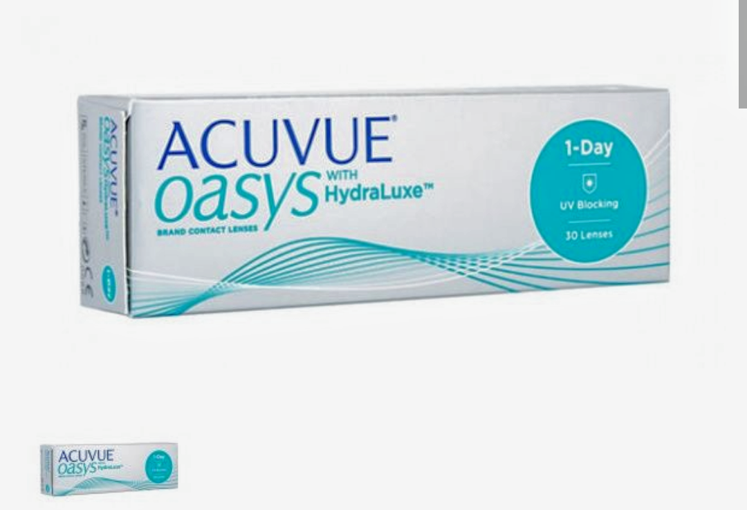 Acuvue Oasys 1-day HydraLuxe однодневные контактные линзы (30 линз)