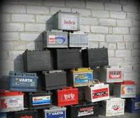 Скупка аккумуляторов б.у в Киеве. Прием автомобильных аккумуляторов с электролитом от 50кг тел.