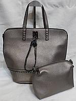 Сумка женская саквояж из кожзаменителя. Стильная женская сумка., фото 1