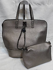 Сумка женская саквояж из кожзаменителя. Стильная женская сумка.