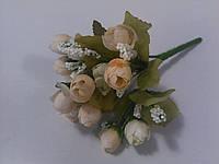Букет розочек персиковых 21 см, фото 1