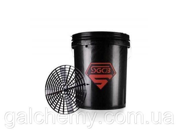 Відро для миття автомобілів з сепаратором чорне SGGD113 (20 л), SGCB