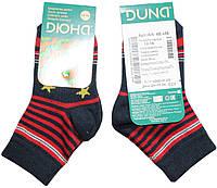 Носки для мальчика, темно-синие в красную полоску, р. 12-14, Дюна