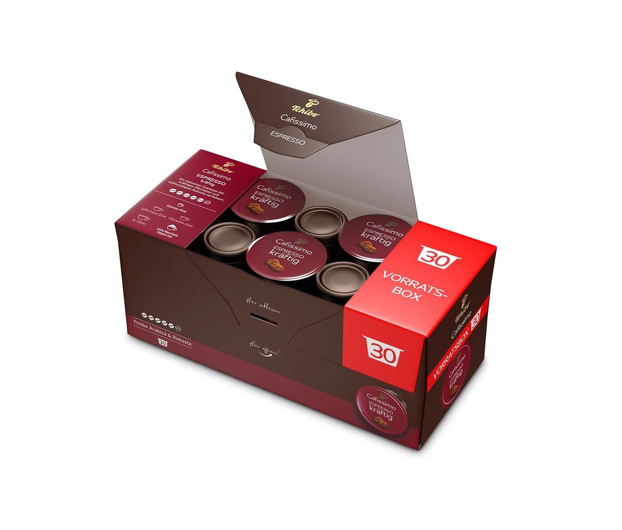 Кава в капсулах ЧІБО Кафиссимо/КАФИТАЛИ - Tchibo Cafissimo Espresso Kraftig (упаковка 30 капсул)