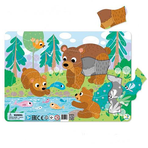 DODO Пазл с рамкой Медвежата
