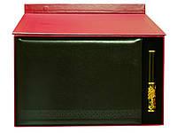 """Подарочный набор """"Бизнес"""": ежедневник А4 в кожаном переплете и металлическая ручка в футляре"""