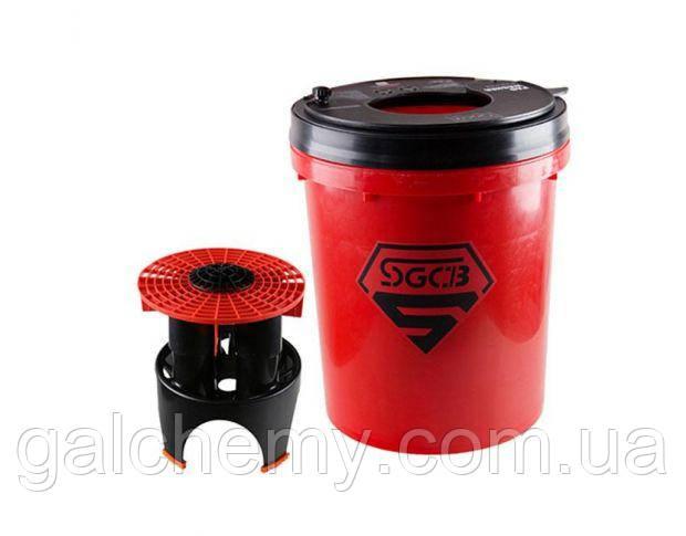 Відро для миття полірувальників червоне SGGD112 (20 л), SGCB