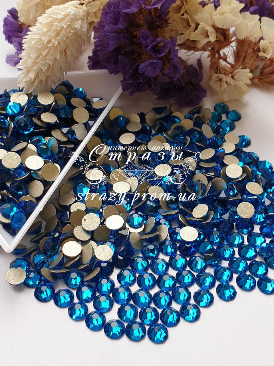 "Стрази ss16 Capri Blue Xirius 8+8, 100шт. (4.0 мм) ""Crystal Premium"""