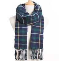 Стильный зимний шарф кашемировый мягкий клетчатый: мужской/женский