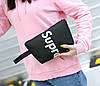Стильний тканинний набір 4в1 Supreme Рюкзак, барсетка, косметичка, пенал, фото 5