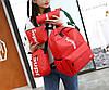 Стильний тканинний набір 4в1 Supreme Рюкзак, барсетка, косметичка, пенал, фото 4