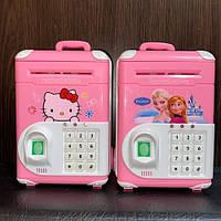 Электронная копилка-сейф банкомат с кодовым замком с отпечатком пальца, фото 1