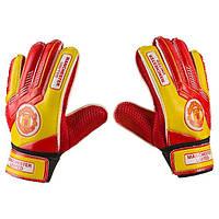 Вратарские перчатки Latex Foam MANCH, размер 6, красный/желтый