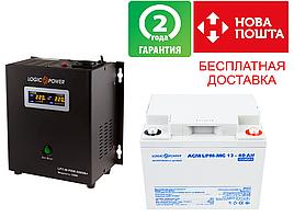 Комплект резервного питания для котла 4ч  LPY-W-PSW-500VA+(350W) и АКБ мультигель LPM-MG 12 - 40AH
