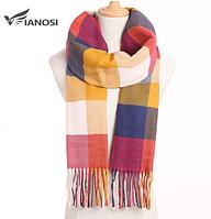 Зимний шарф кашемировый мягкий цветной: мужской/женский