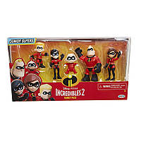 Набор фигурок The Incredibles 2 Family 5-Pack Junior Supers Action Figures