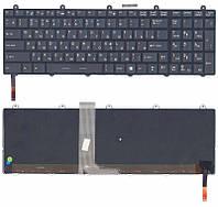 Клавиатура для ноутбука MSI (GE60, GE70, GT60, GP60, GT70, GP70) с подсветкой (Light) Black, (Black Frame) RU