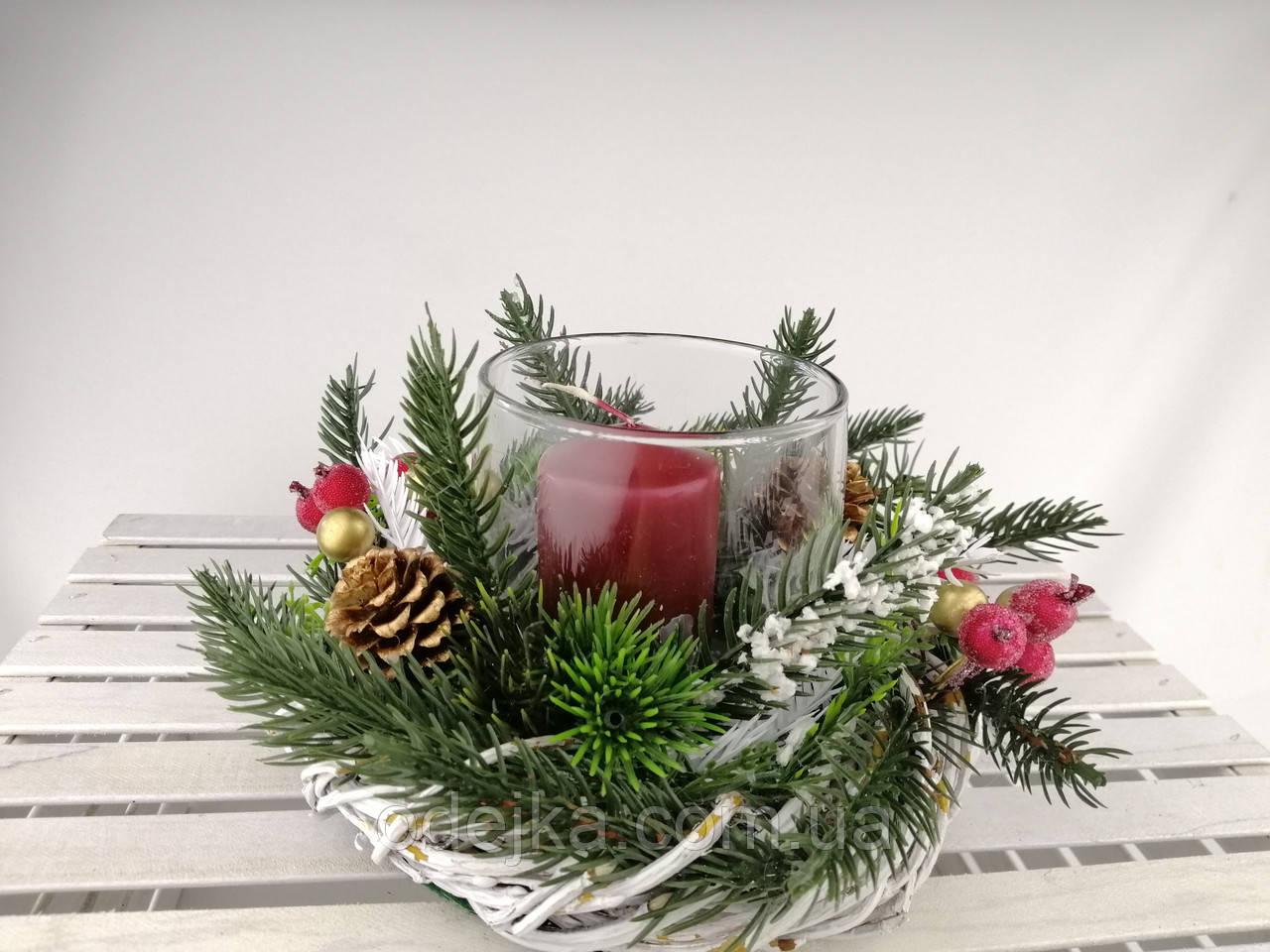 Посвечник новогодний, рождественский