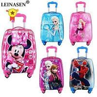 Детский чемодан на подарок для мальчика,для девочки чемодан на колесах