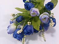 Букет розочек голубых 21 см, фото 1