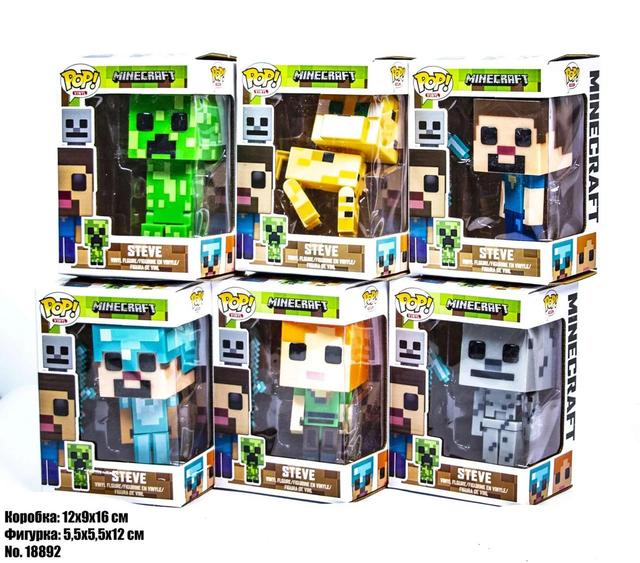 Фігурки Pop Minecraft в коробці 18892