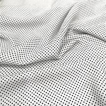 Штапель принтованный мелкий горошек на белом, фото 3