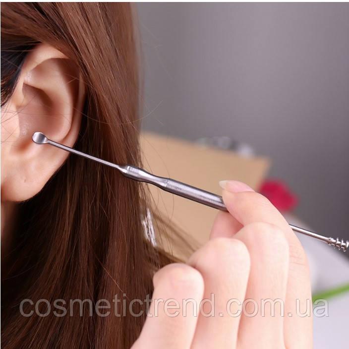 Инструмент для чистки ушей кюретка косметологическая профессиональная (1 шт.)
