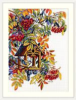 Набор для вышивания крестом Красочная Рябина Мережка, фото 1