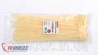 Хомуты пластиковые Carlife 7,6 x 350 mm (Белые)