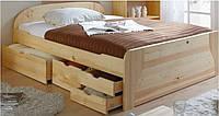 деревянная кровать с ящиками Финик