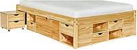 деревянная кровать с тумбами и ящиками Агата