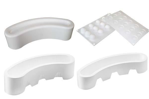 Набор форм для десерта 28х6х7.1 / 27х5х5 / 30х18х2.8см / 1000 / 584 / 300мл силиконовых 3шт. Silikomart