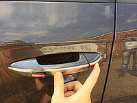 VW Passat В6 Накладки на ручки (нерж.) узкая модель 4 дверн