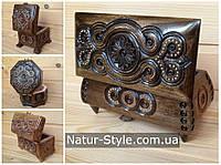 Деревянные резные шкатулки Карпатские сувениры Украинский подарок