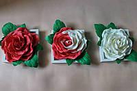 Триптих, модульные картины 3д розы изолон в рамке IKEA