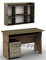 Стол письменный регулируемый тСП-13 + тумба Тк-3 + полки