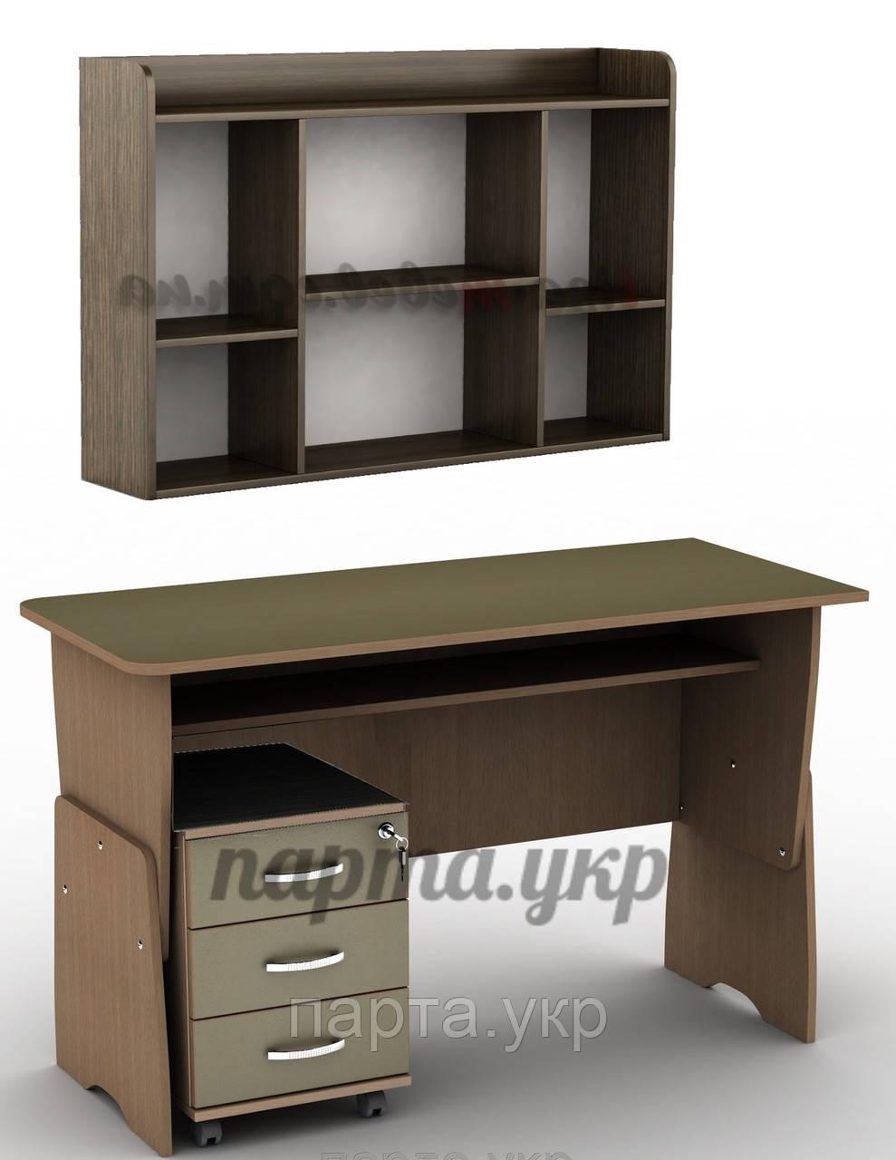 купить стол письменный регулируемый тсп 13 тумба тк 3 полки в киеве от компании