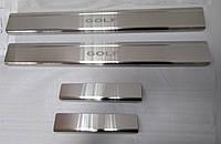Накладки на пороги Volkswagen Golf IV 5D 1997-2003 4шт. Standart