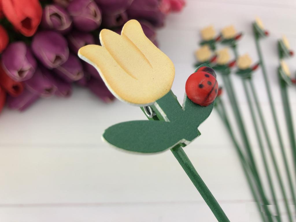 Топпер Желтые тюльпаны, 24 шт