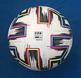 Мяч футбольный Adidas Uniforia Euro 2020 OMB FH7362 (размер 5), фото 3