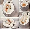 Лежанка для собаки кошки beautiful мягкий лежак премиум качество глубокая, фото 5