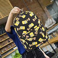 Рюкзак Simpson Bart (Симпсон Барт) - Светло-черный, Городской, Школьный