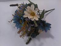 Букет ромашок біло-блакитних 31 см, фото 1
