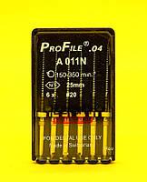 ПроФайлы ProFile Maillefer №20, 04, 25мм, 6шт.