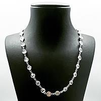 Ланцюжок кольє з срібла 925 Beauty Bar білі циркони, фото 1