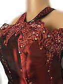 Платье вечернее большого размера Cherlone (Италия) из тафты винно красного цвета, 54/56